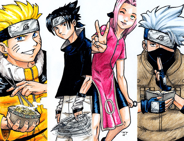 Naruto Team 7 Manga Picture